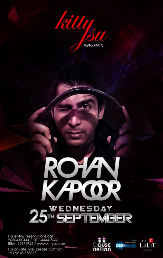 Gig Alert: Rohan Kapoor at Kitty Su, Delhi