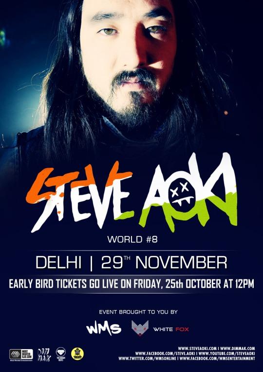Gig Alert: Steve Aoki India Tour 2013