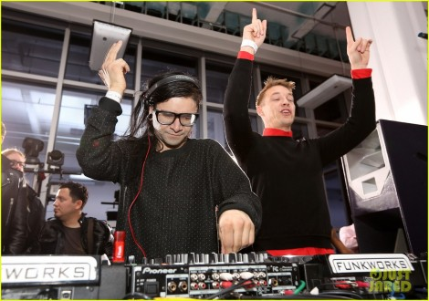 Skrillex, Diplo, Kaskade, Nero And Tommy Trash Perform Live At Pre-GRAMMY Party Supporting DANCE (RED), SAVE LIVES
